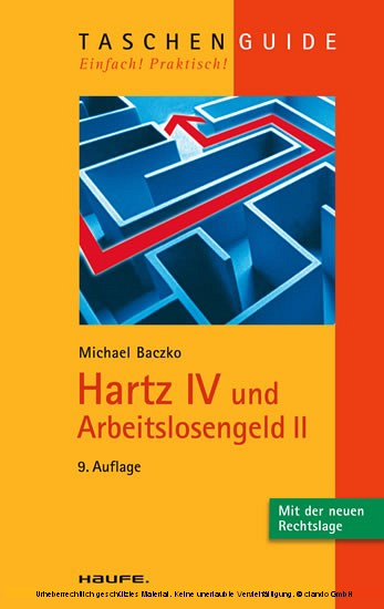 Hartz IV und Arbeitslosengeld II - Blick ins Buch
