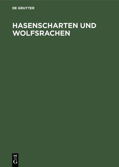 Hasenscharten und Wolfsrachen - Blick ins Buch
