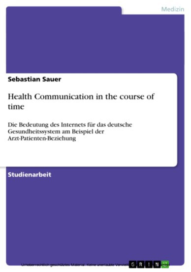 Health Communication in the course of time - Blick ins Buch