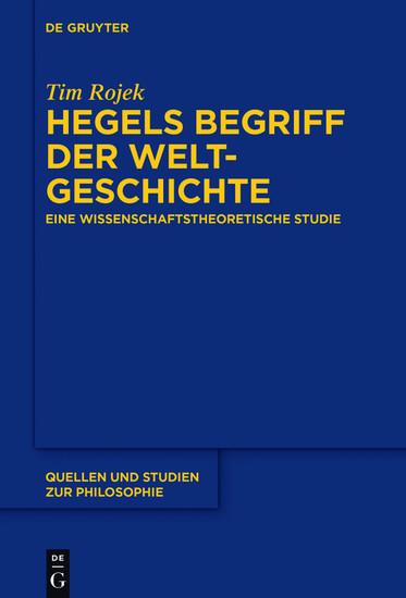 Hegels Begriff der Weltgeschichte - Blick ins Buch