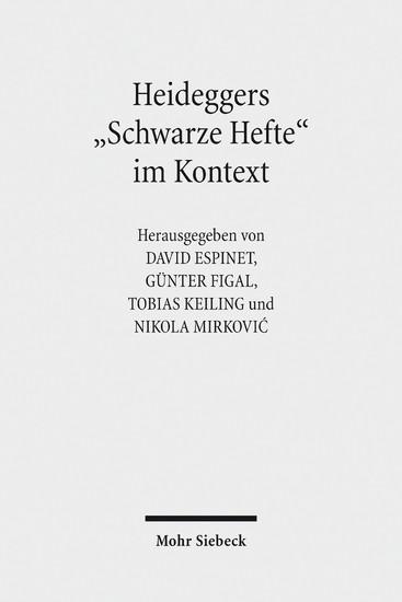 Heideggers 'Schwarze Hefte' im Kontext - Blick ins Buch