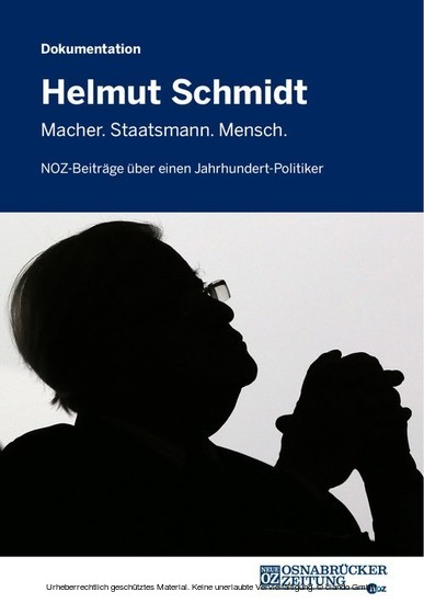 Helmut Schmidt - Blick ins Buch