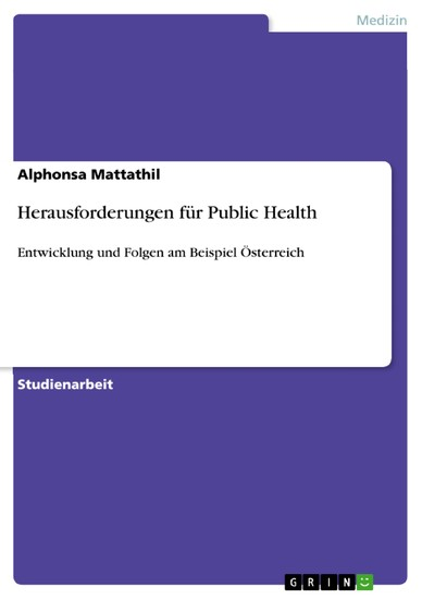 Herausforderungen für Public Health - Blick ins Buch