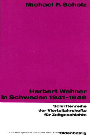 Herbert Wehner in Schweden - Blick ins Buch