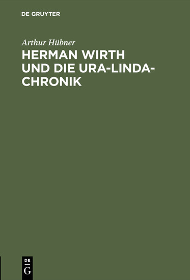 Herman Wirth und die Ura-Linda-Chronik - Blick ins Buch