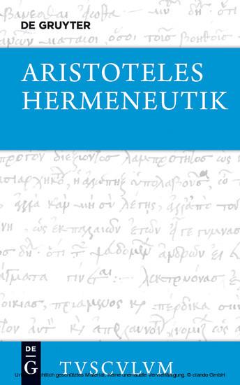 Hermeneutik / Peri hermeneias - Blick ins Buch