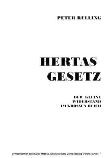 Hertas Gesetz - Blick ins Buch