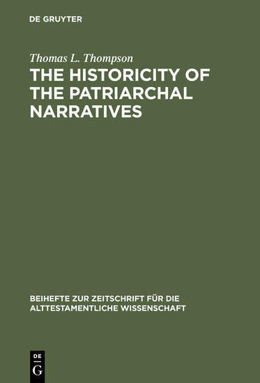 The Historicity of the Patriarchal Narratives - Blick ins Buch