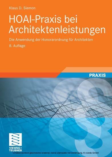 HOAI-Praxis bei Architektenleistungen - Blick ins Buch