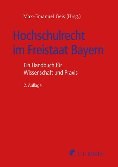 Hochschulrecht im Freistaat Bayern - Blick ins Buch