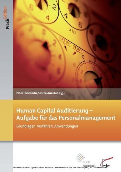 Human Capital Auditierung - Aufgabe für das Personalmanagement - Blick ins Buch