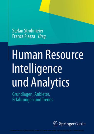 Human Resource Intelligence und Analytics - Blick ins Buch