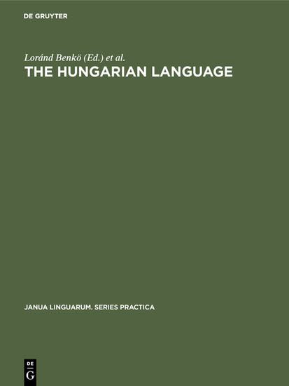 The Hungarian Language - Blick ins Buch