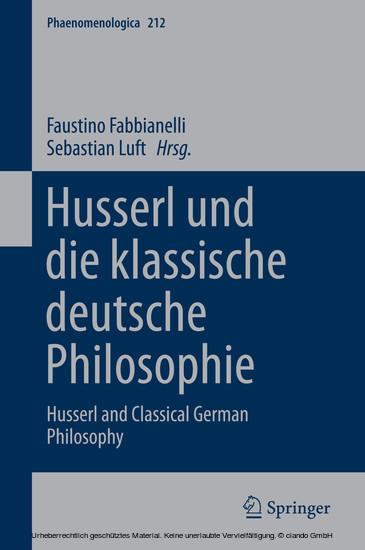 Husserl und die klassische deutsche Philosophie - Blick ins Buch