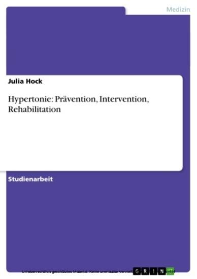 Hypertonie: Prävention, Intervention, Rehabilitation - Blick ins Buch