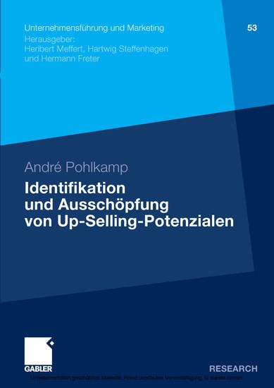Identifikation und Ausschöpfung von Up-Selling-Potenzialen - Blick ins Buch