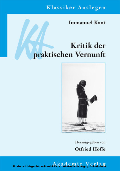 Immanuel Kant: Kritik der praktischen Vernunft - Blick ins Buch