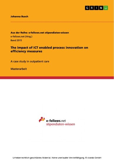 The impact of ICT enabled process innovation on efficiency measures - Blick ins Buch