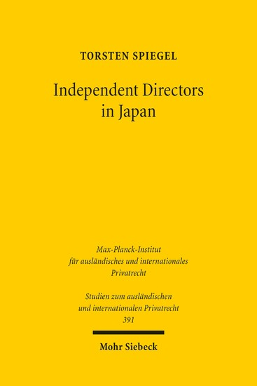 Independent Directors in Japan - Blick ins Buch