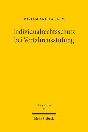 Individualrechtsschutz bei Verfahrensstufung - Blick ins Buch