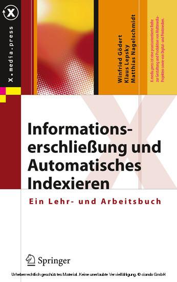 Informationserschließung und Automatisches Indexieren - Blick ins Buch