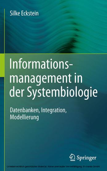 Informationsmanagement in der Systembiologie - Blick ins Buch