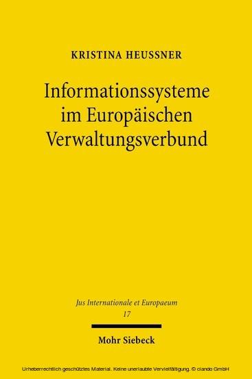 Informationssysteme im Europäischen Verwaltungsverbund - Blick ins Buch
