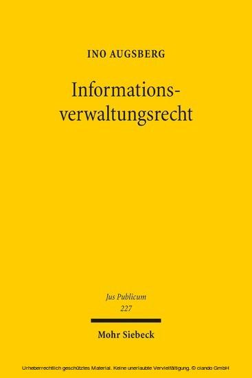 Informationsverwaltungsrecht - Blick ins Buch