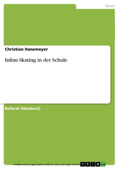 Inline-Skating in der Schule - Blick ins Buch