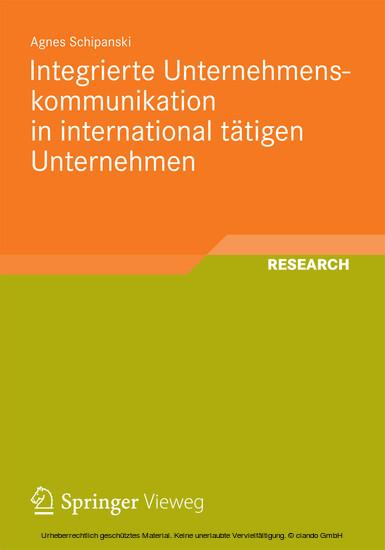 Integrierte Unternehmenskommunikation in international tätigen Unternehmen - Blick ins Buch