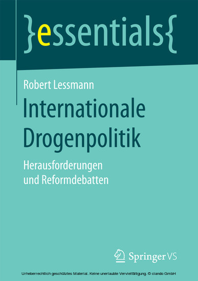 Internationale Drogenpolitik - Blick ins Buch