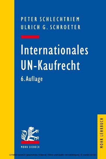 Internationales UN-Kaufrecht - Blick ins Buch