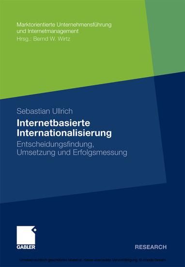 Internetbasierte Internationalisierung - Blick ins Buch