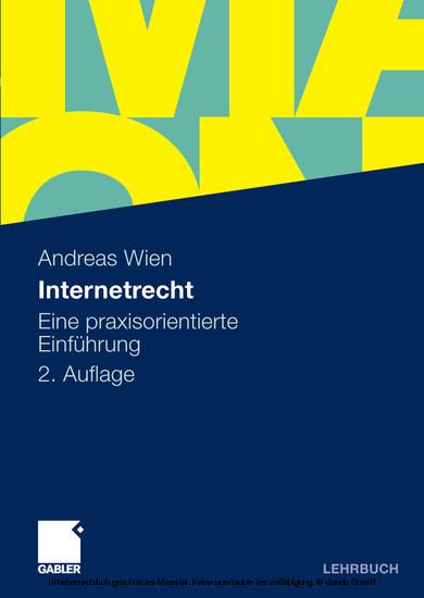 Internetrecht - Blick ins Buch