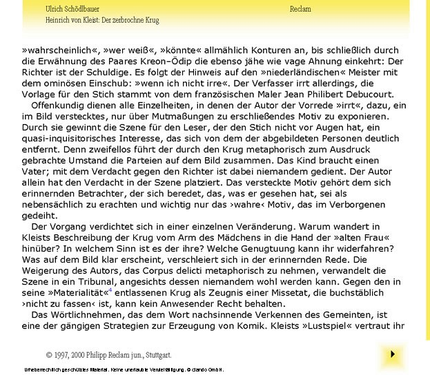Interpretation. Heinrich von Kleist: Der zerbrochne Krug - Blick ins Buch