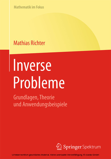 Inverse Probleme - Blick ins Buch