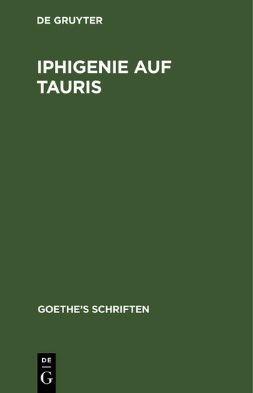 Iphigenie auf Tauris - Blick ins Buch