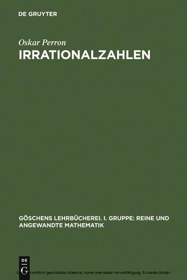 Irrationalzahlen - Blick ins Buch
