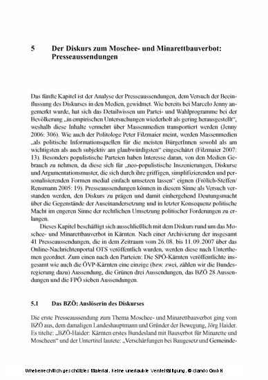Islamophober Populismus - Blick ins Buch