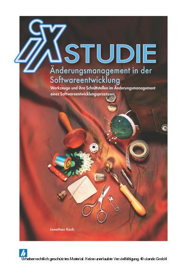 iX Studie - Änderungsmanagement in der Softwareentwicklung - Blick ins Buch