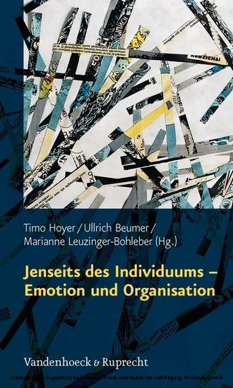 Jenseits des Individuums - Emotion und Organisation - Blick ins Buch