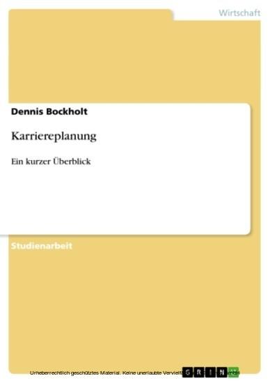 Karriereplanung - Blick ins Buch