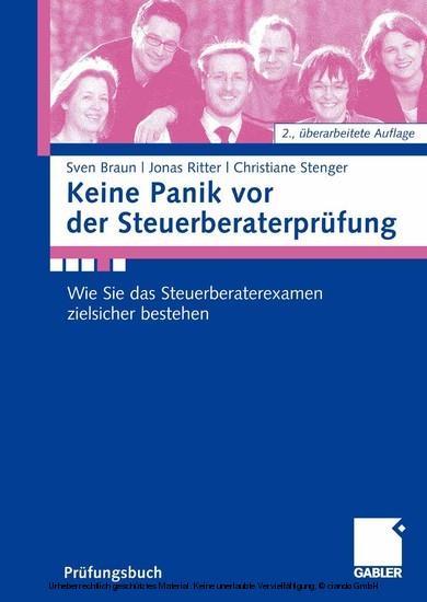 Keine Panik vor der Steuerberaterprüfung - Blick ins Buch