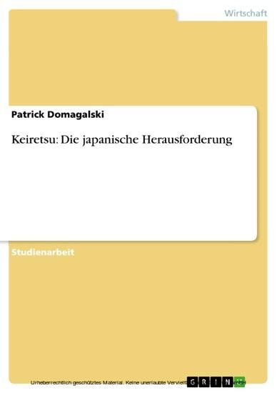 Keiretsu: Die japanische Herausforderung - Blick ins Buch