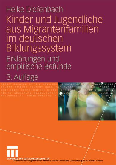 Kinder und Jugendliche aus Migrantenfamilien im deutschen Bildungssystem - Blick ins Buch