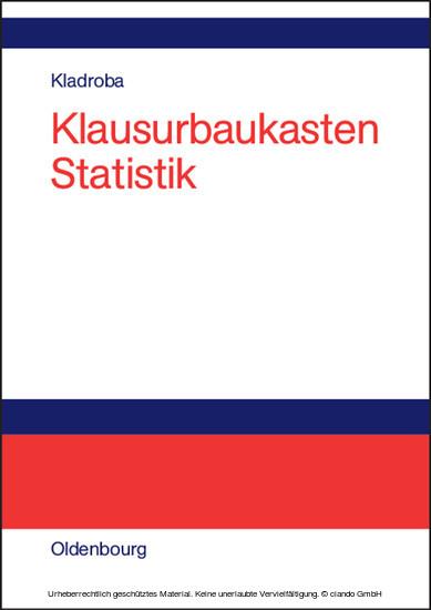 Klausurbaukasten Statistik - Blick ins Buch
