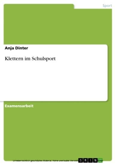 Klettern im Schulsport - Blick ins Buch