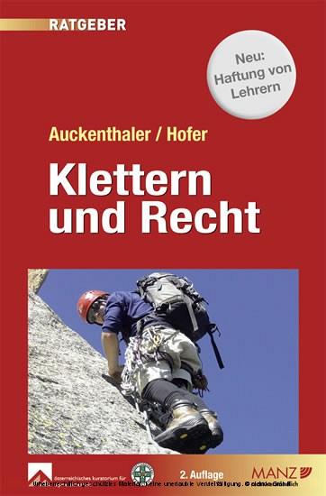 Klettern & Recht - Blick ins Buch