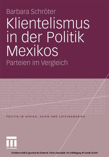 Klientelismus in der Politik Mexikos - Blick ins Buch