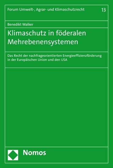 Klimaschutz in föderalen Mehrebenensystemen - Blick ins Buch